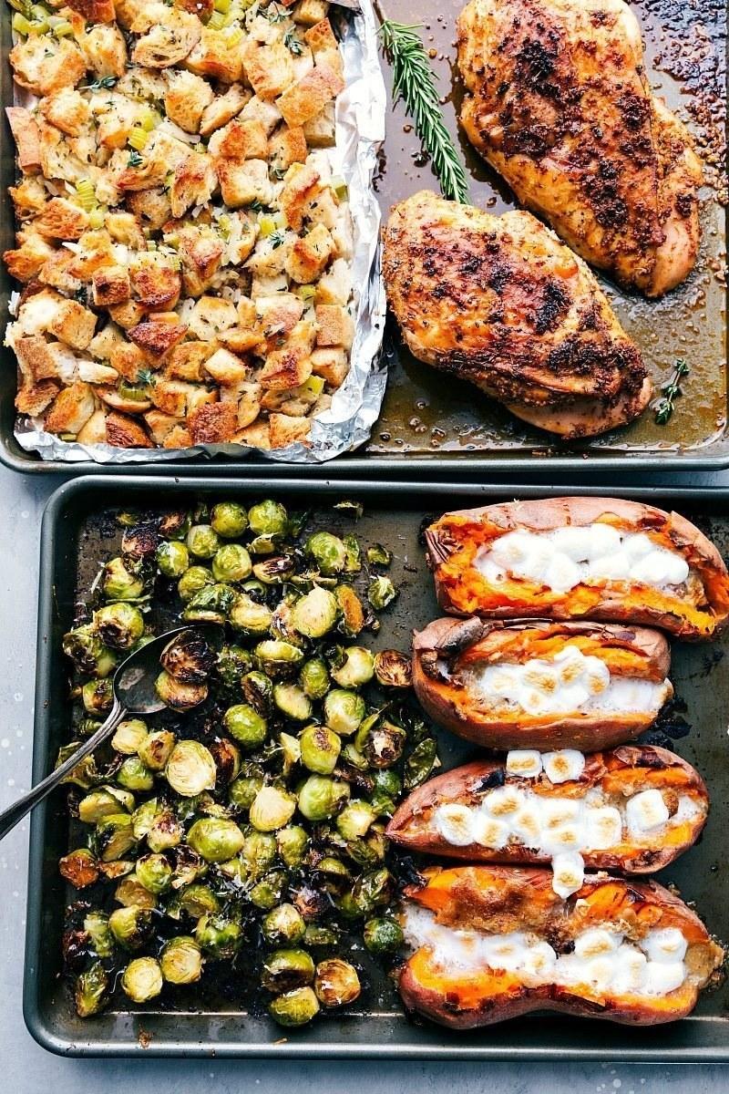 Thanksgiving Dinner on Two Sheet Pans
