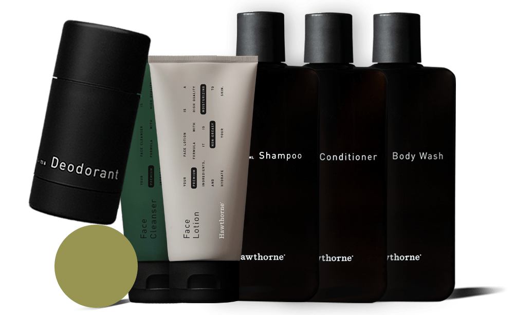 everything in the body care kit