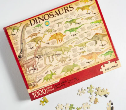 A puzzle of dinosaurs