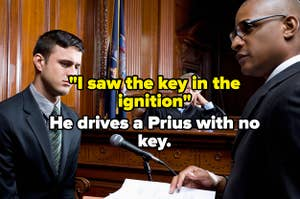 Witness lied about seeing key in the ignition