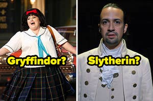 """""""Gryffindor?"""" over Tracy Turnblad and """"Slytherin?"""" over Hamilton"""