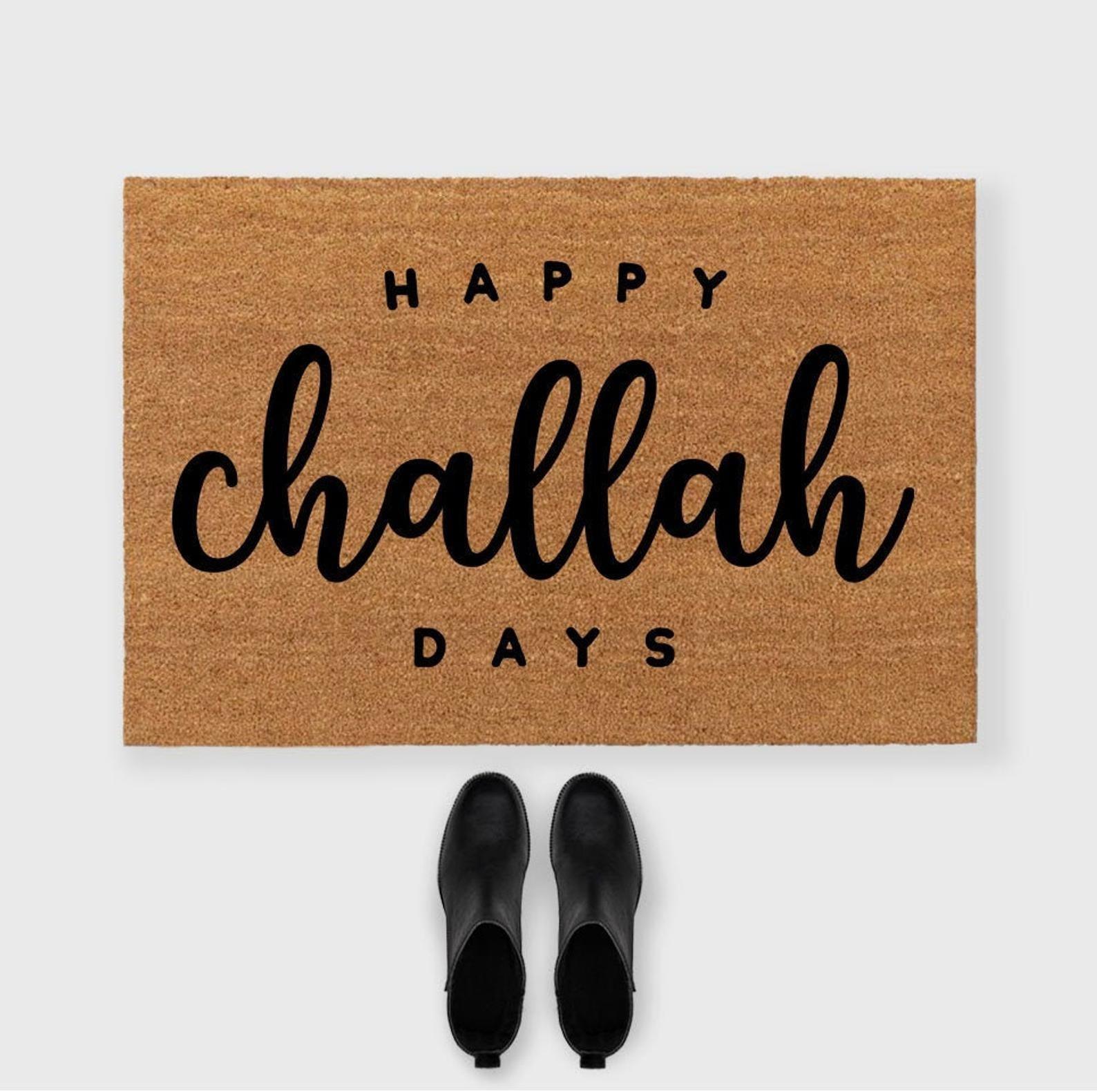 Happy Challah days doormat