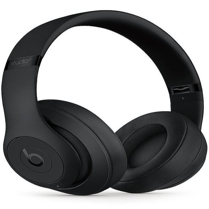 black over-ear headphones