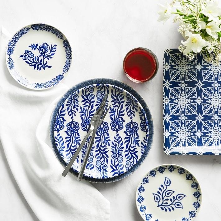 Hanukkah appetizer plates