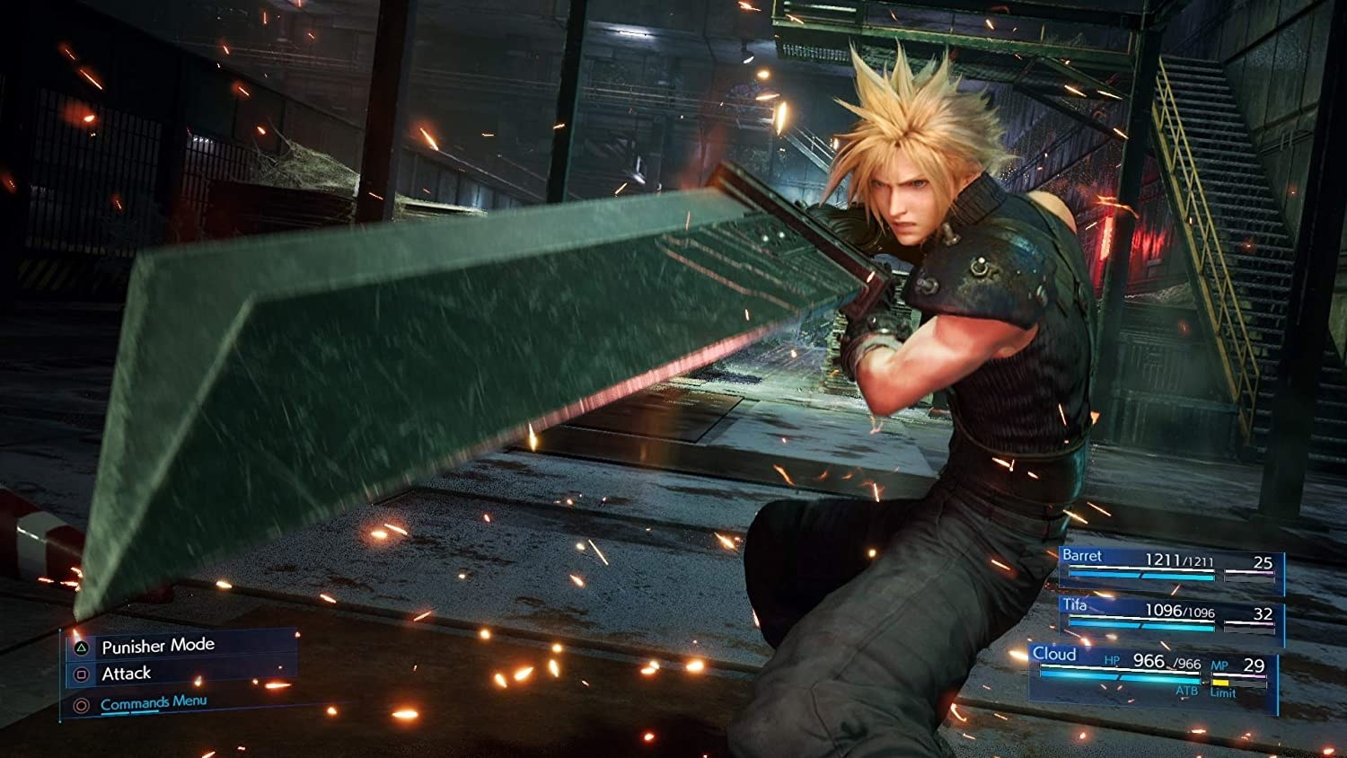 Cloud wielding his signature sword in stunning HD