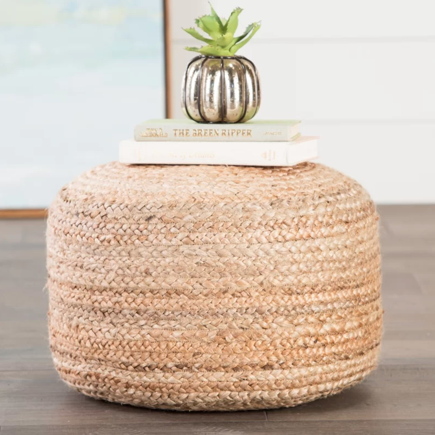 The ottoman pouf in natural