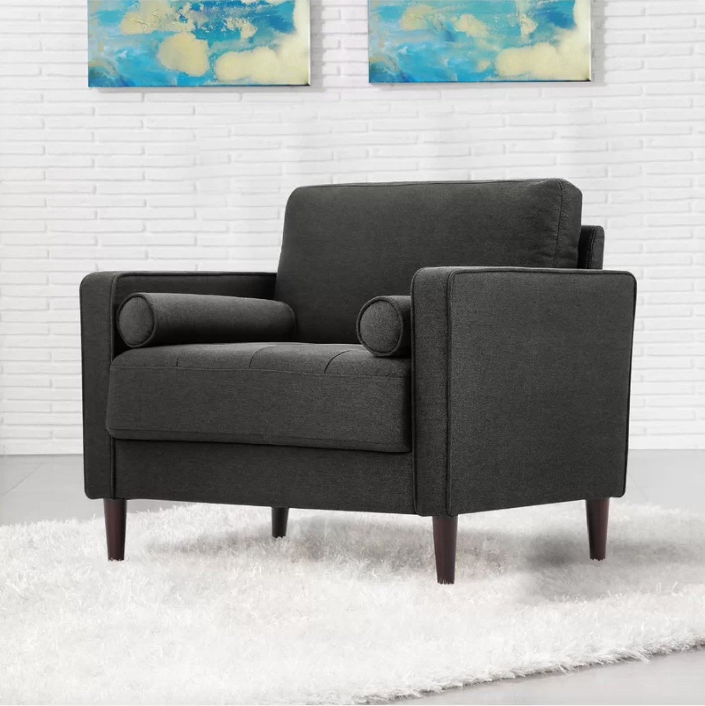 The club chair in heather gray