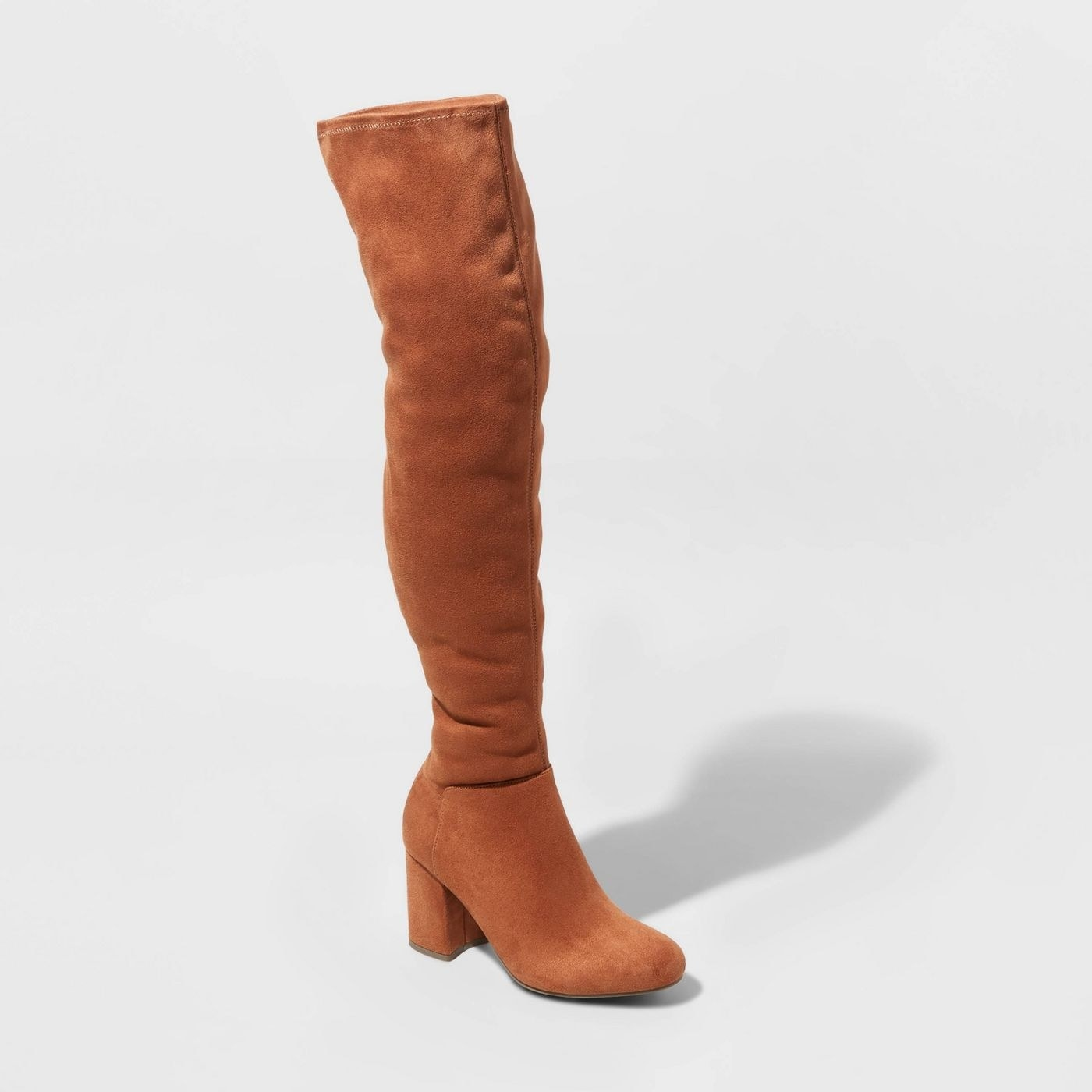 brown over the knee microsuede fashion boots