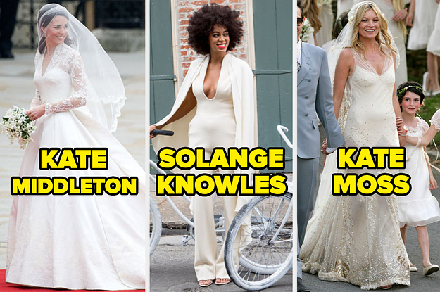 Here Are 17 Celebrity Wedding Dresses – Would You Wear Any Of Them On Your Special Day?