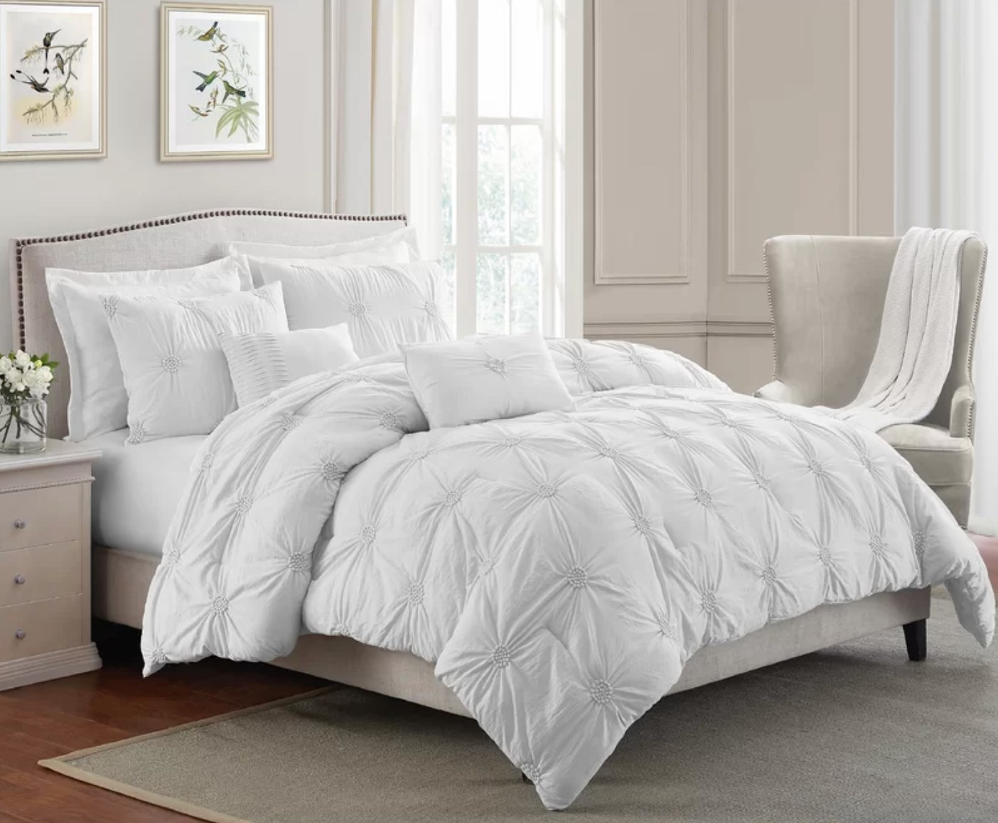 The two-piece comforter set in white