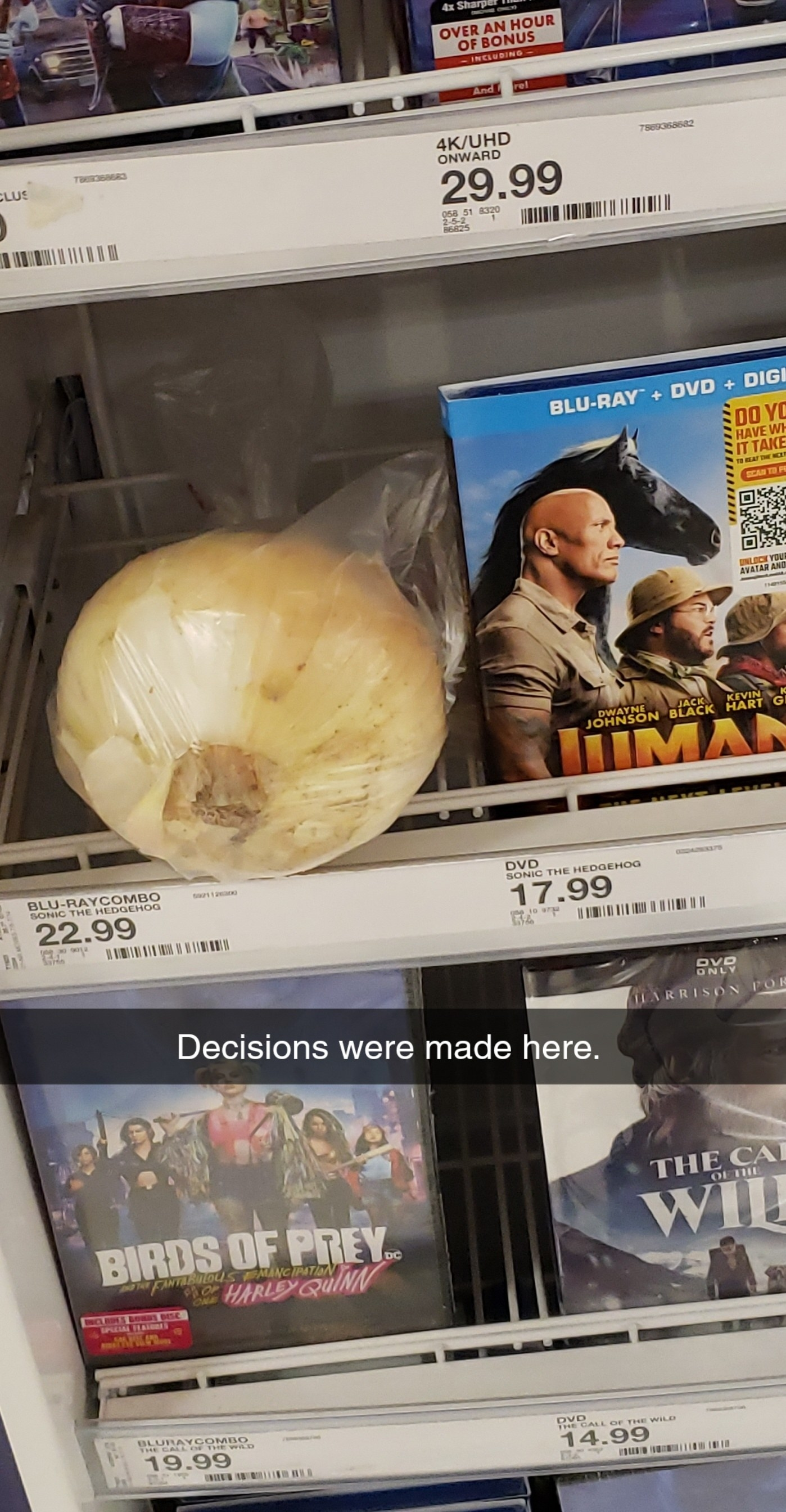 an onion in the movie section