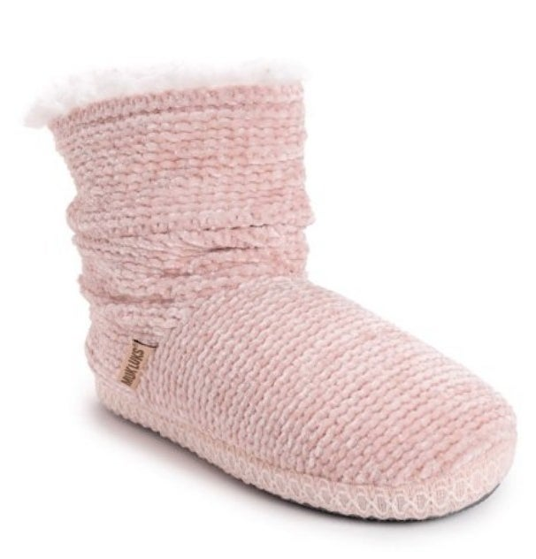 the slipper bootie in pink