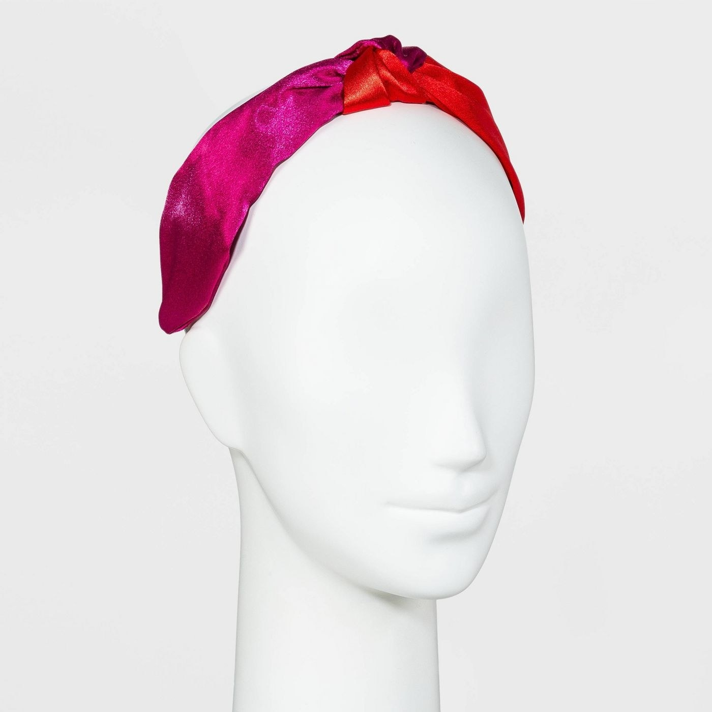 two-tone top knot headband
