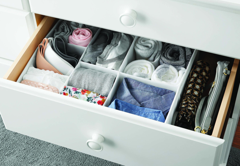 White drawer organizer