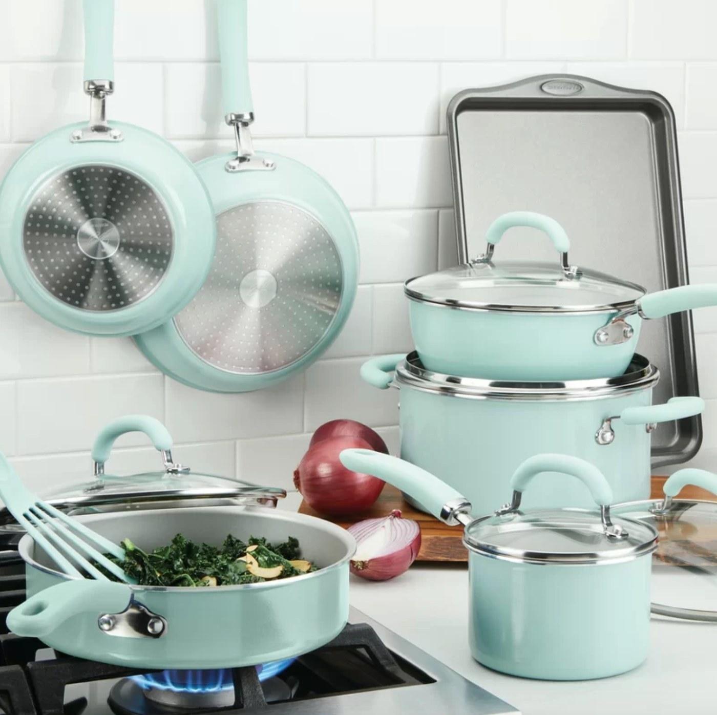 The 13 piece non-stick cookware set