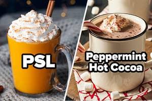 PSL vs Peppermint hot cocoa