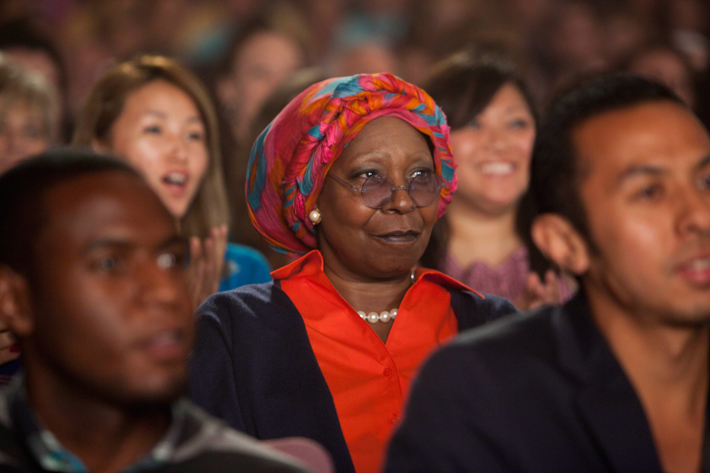 Whoopi sitting in the audience
