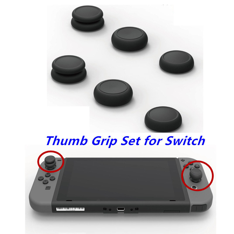 On the Switch, the grips make for a more elevated and pronounced joystick