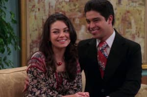 """Jackie and Fez from """"That '70s Show"""""""