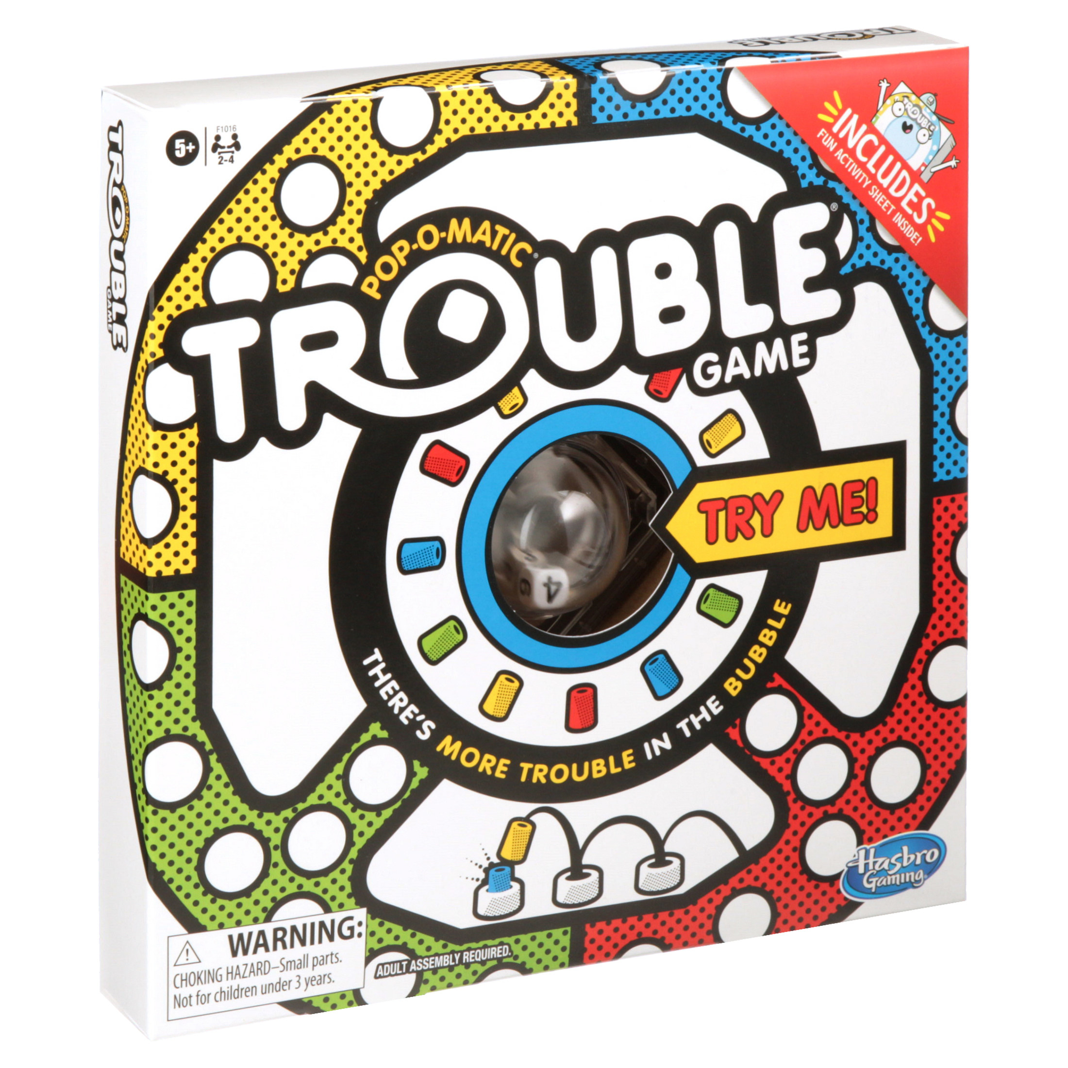 The brightly colored game box