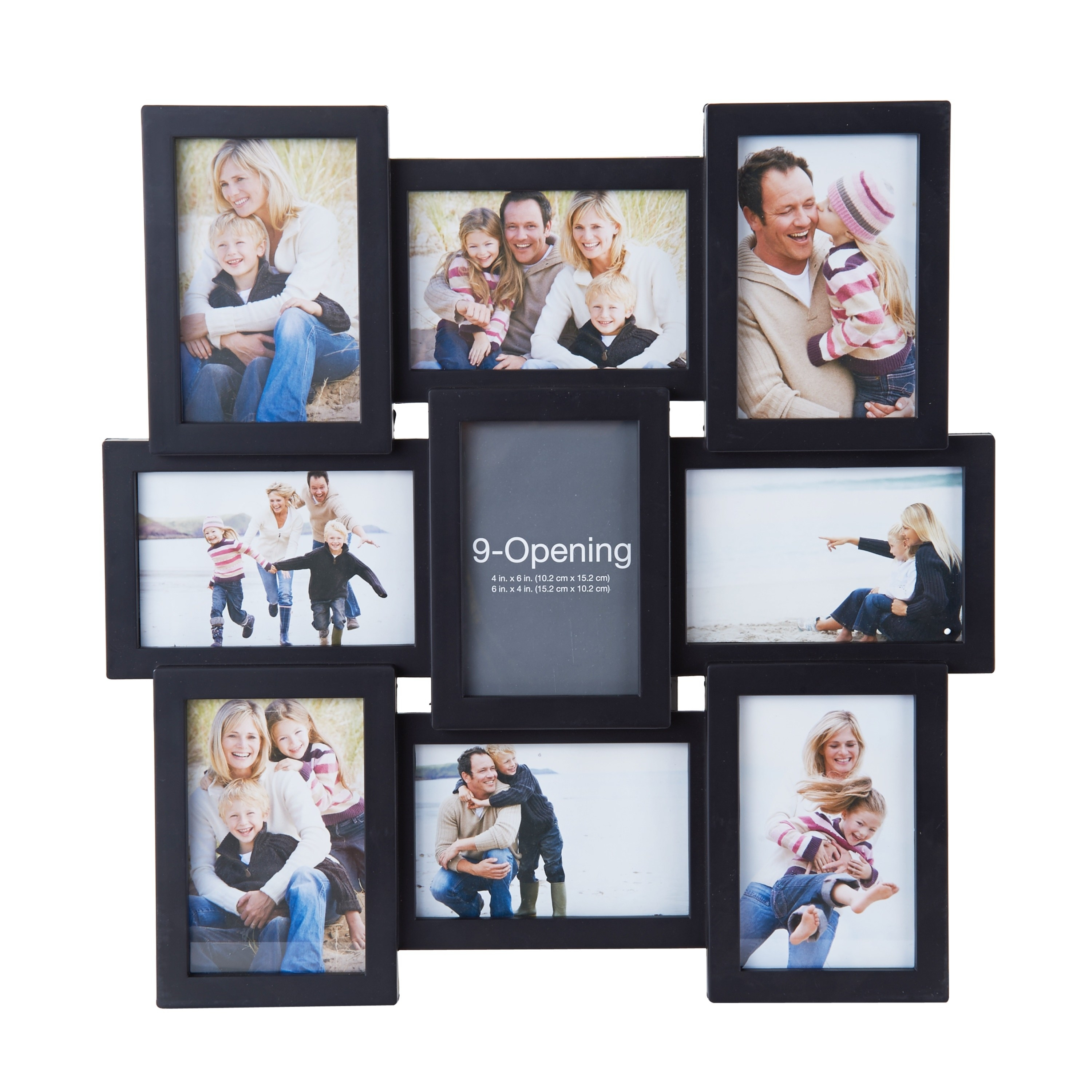 The photo frame with family pictures