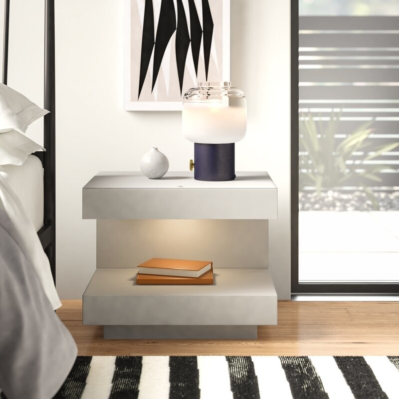 The white nightstand