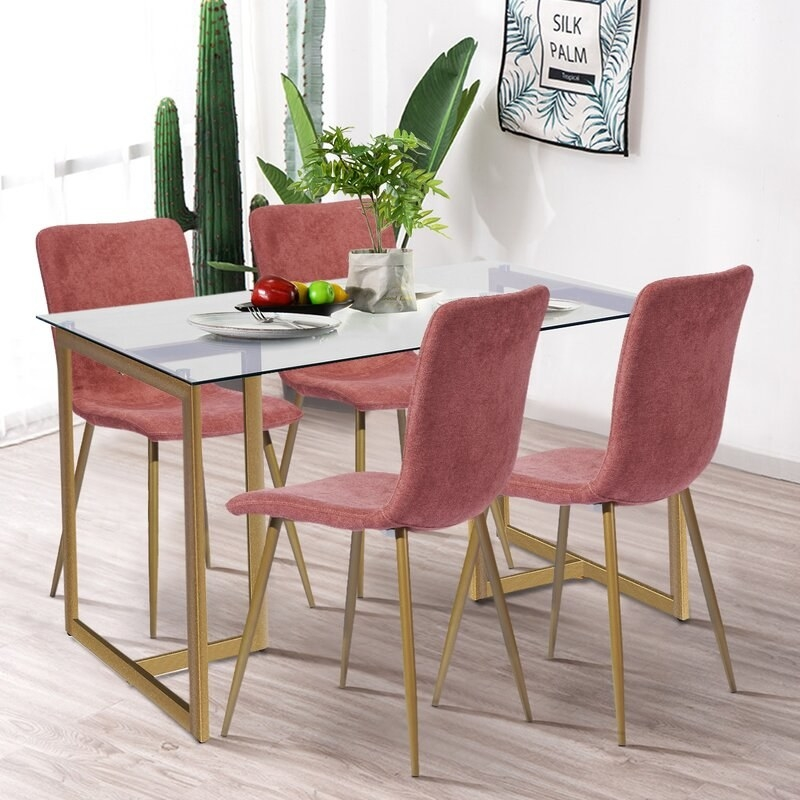 The coral dining set