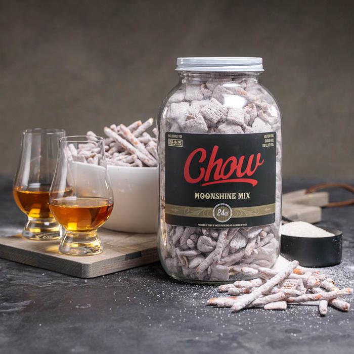large jar of chow mix