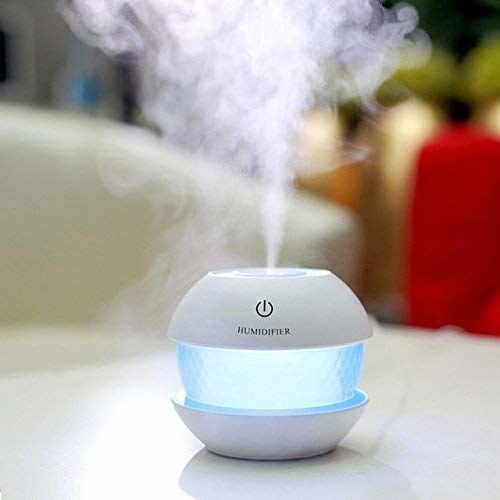 Colour-changing humidifier on a table