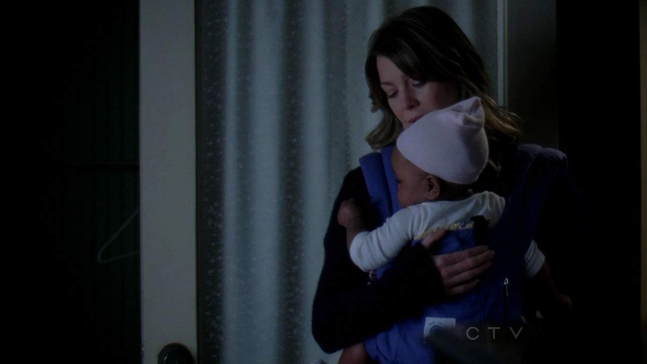 Meredith bringing Zola home for the first time alone.