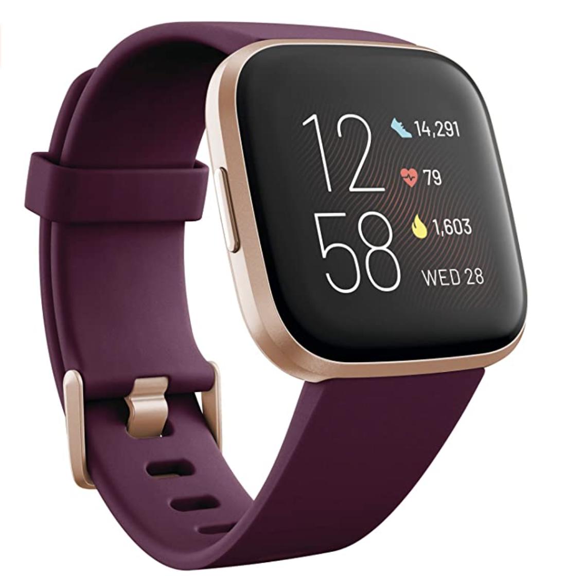 Wine-colored Fitbit Versa 2 Smartwatch