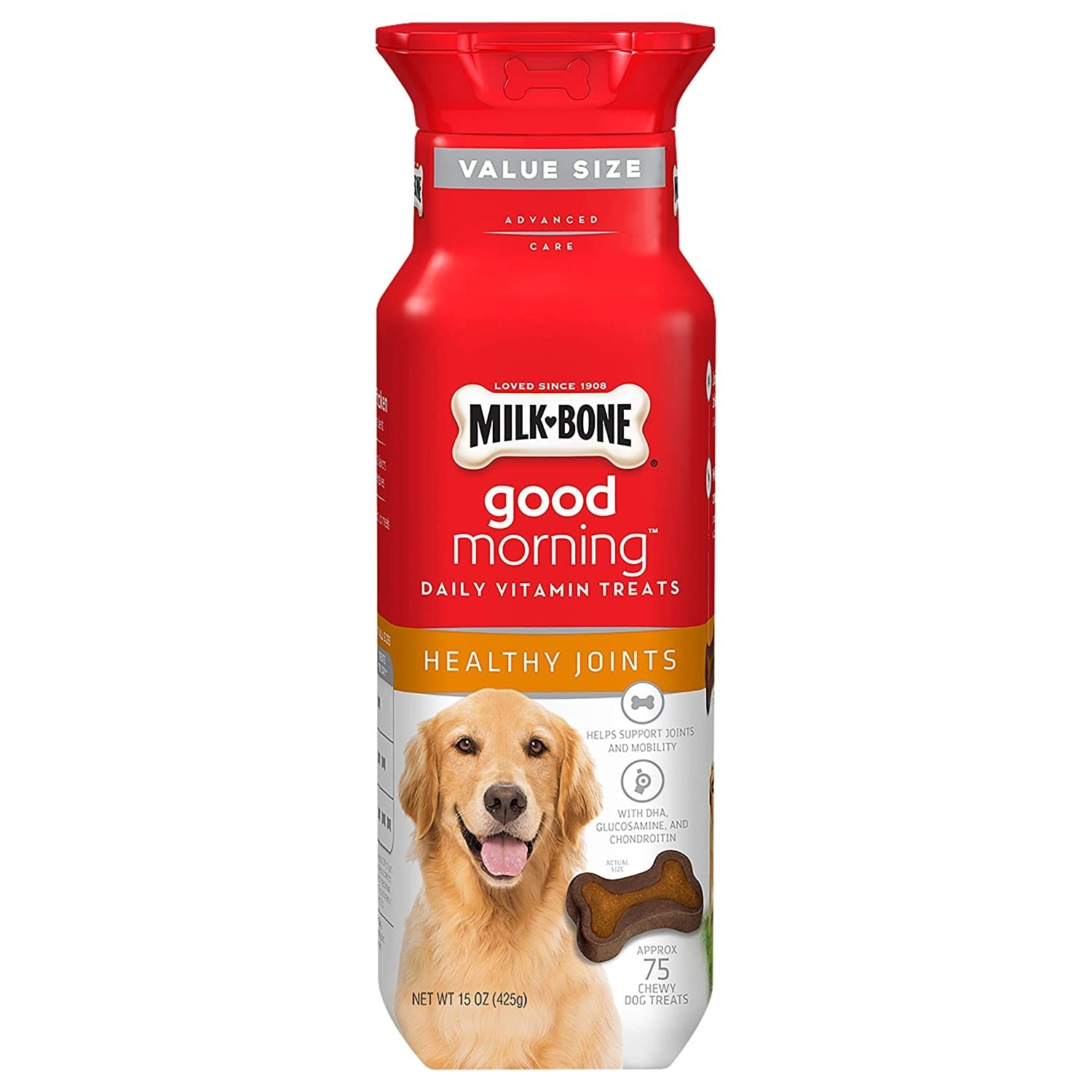 Product made with real chicken and nutrients to support your dog's mobility
