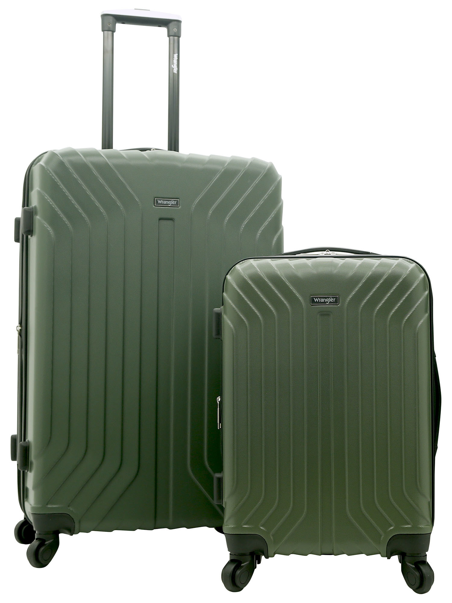 The green luggage