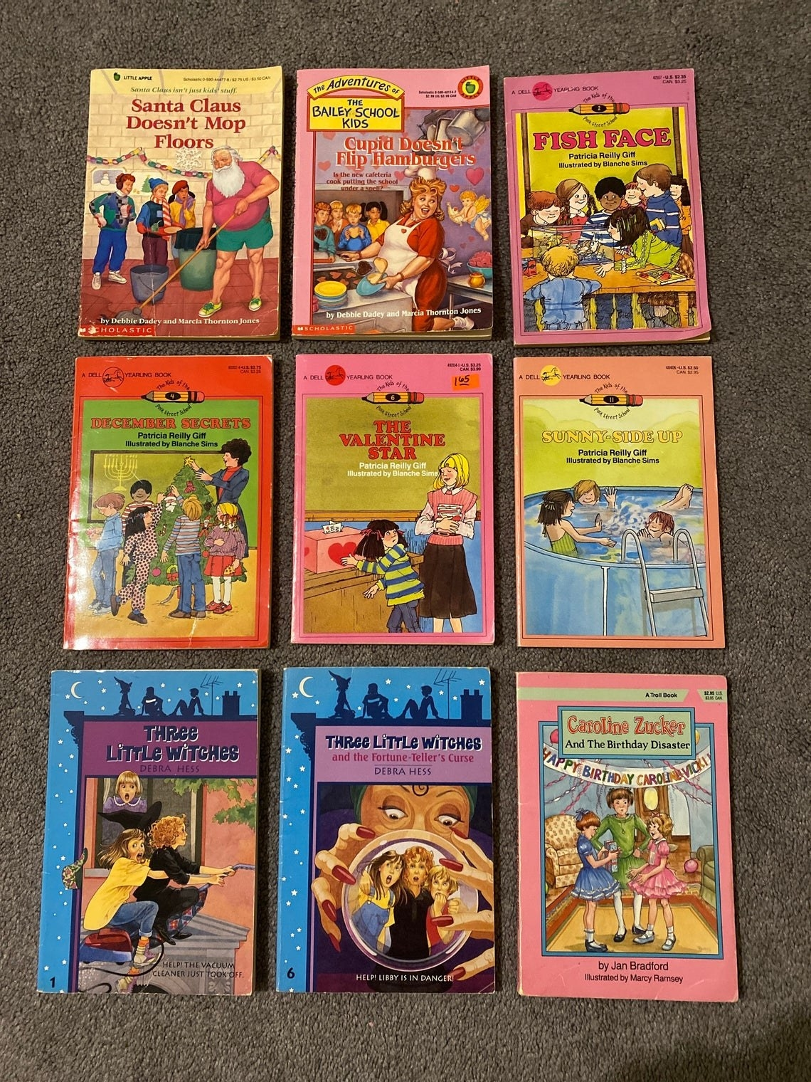 A collection of nine different book series from the late '80s and early '90s.
