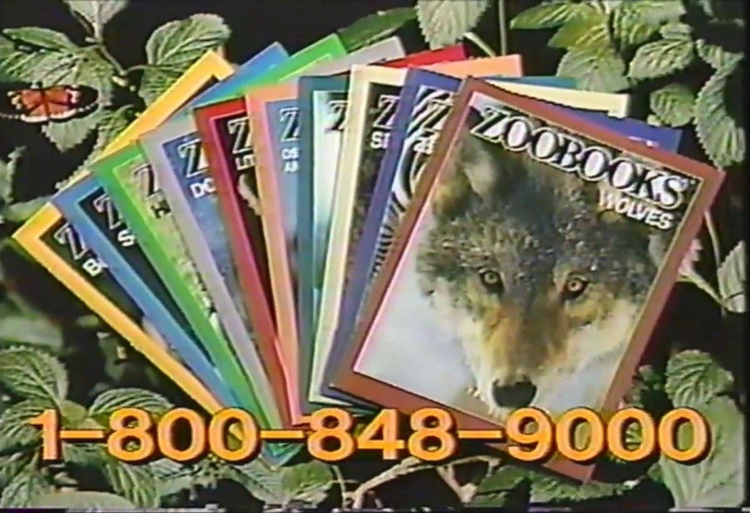 A screenshot of the commercial for Zoobooks.