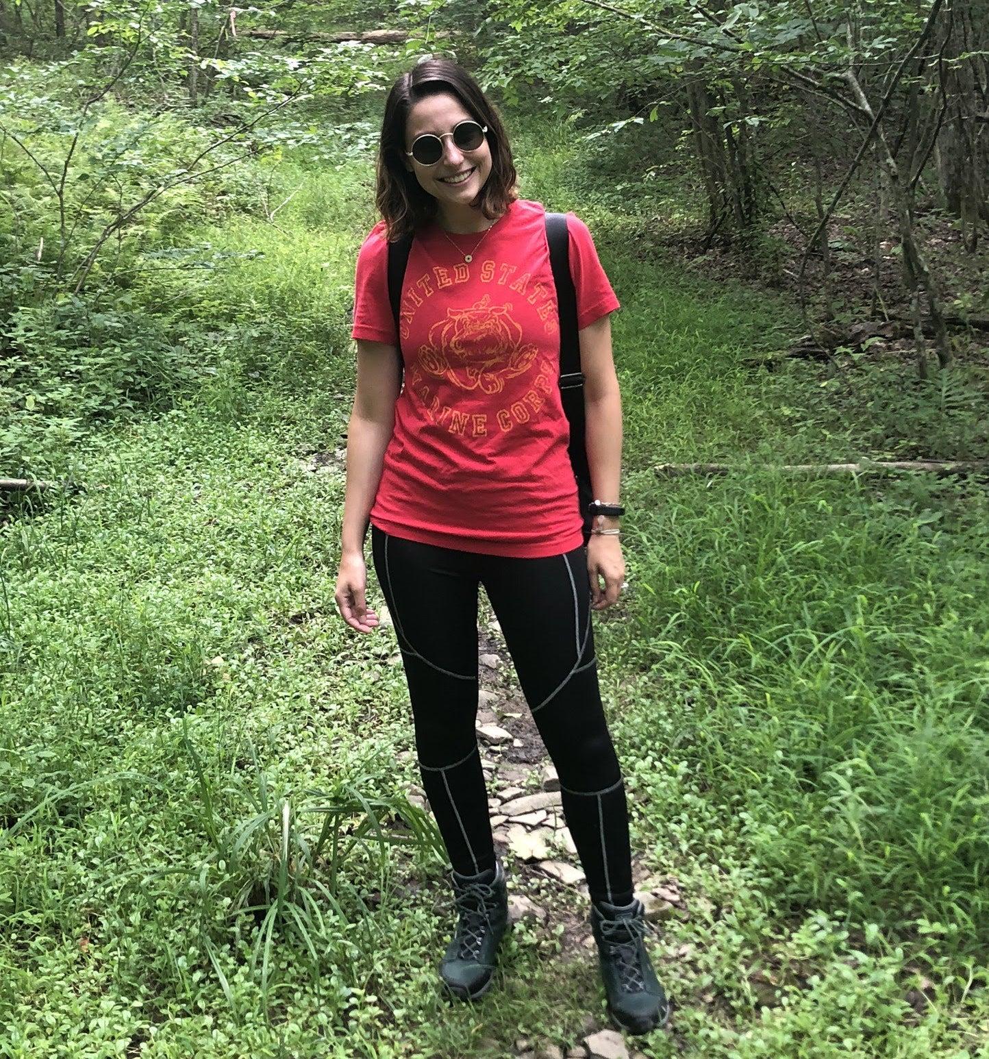 Genevieve standing in nature