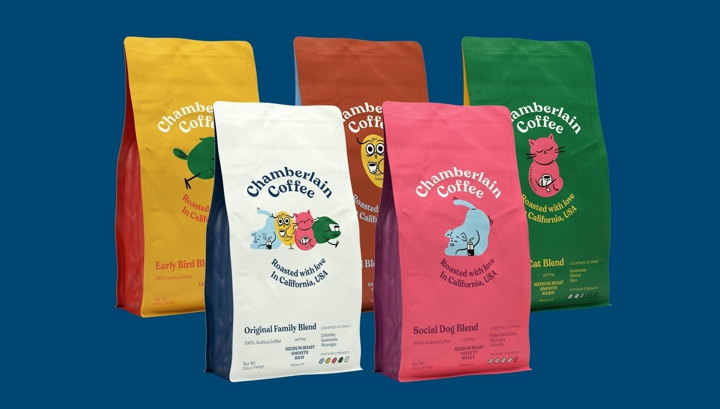 the five bags of coffee that come in the bundle