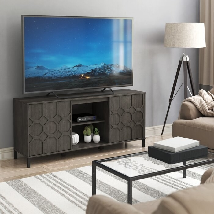 the Chabeli TV Stand in a living room