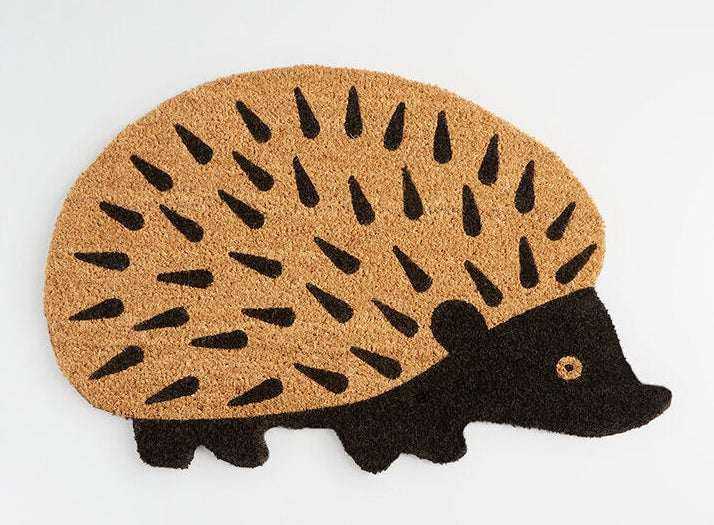 Hedgehog shaped doormat