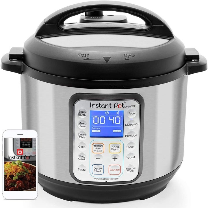 Instant Pot next to smartphone with app
