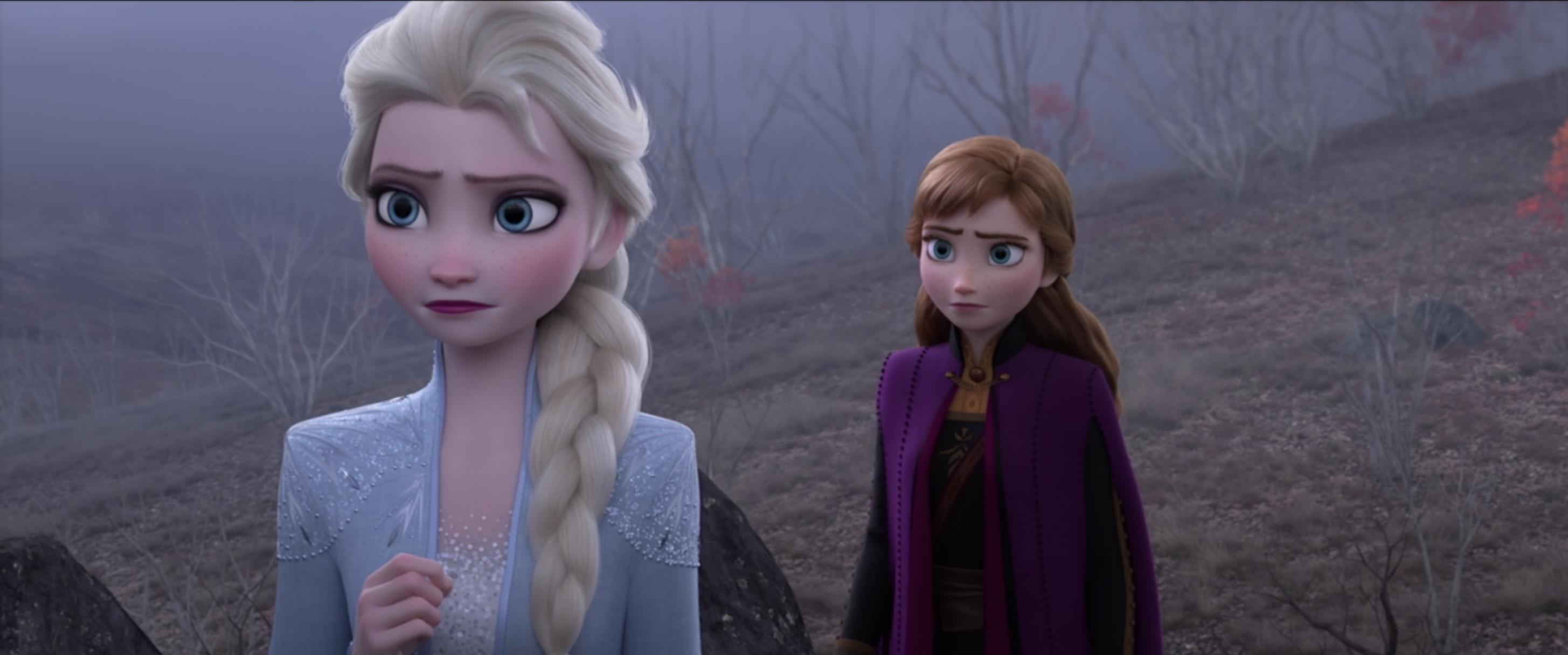 Elsa and Anna concerned