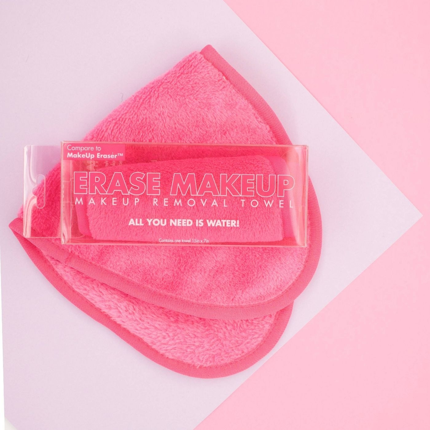 The pink makeup removal towel