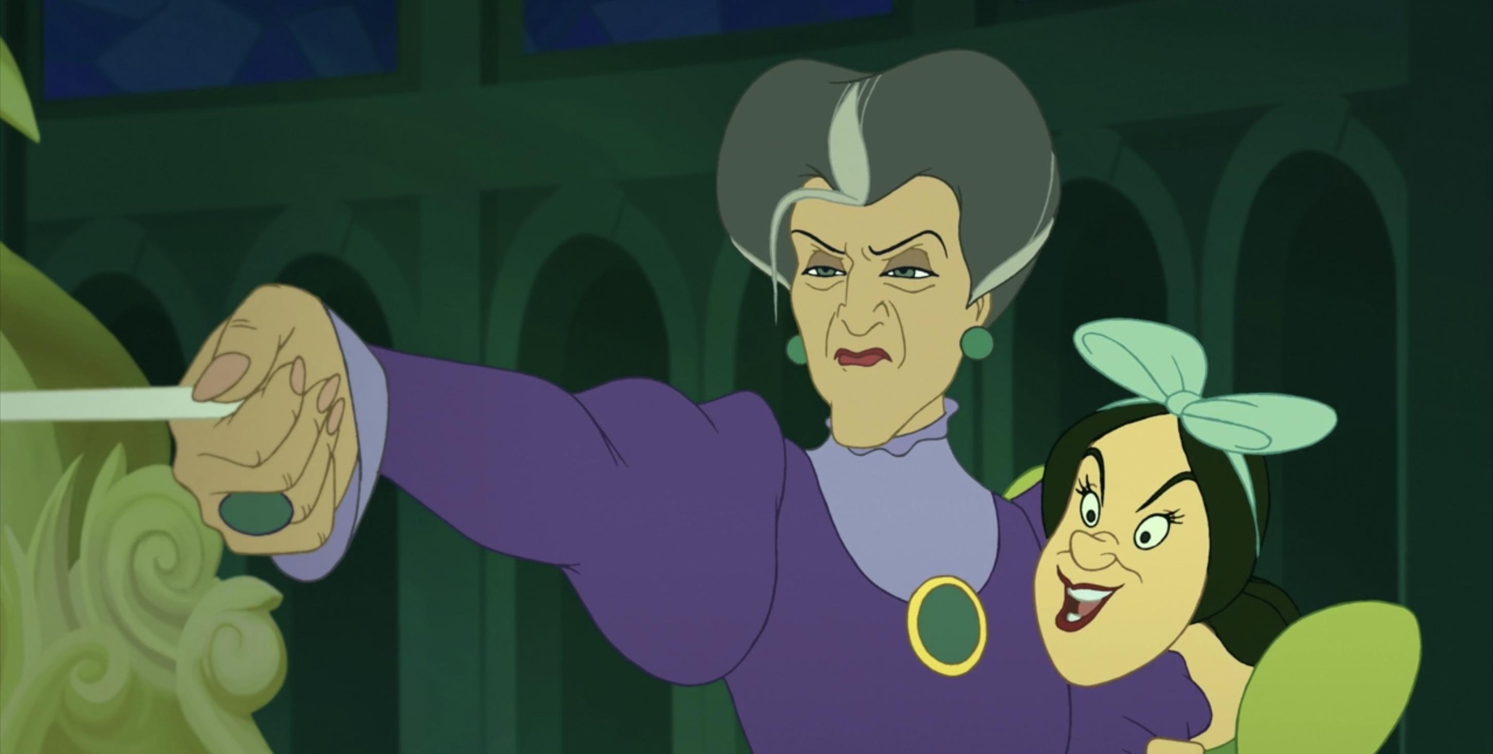 Lady Tremaine using the magic wand