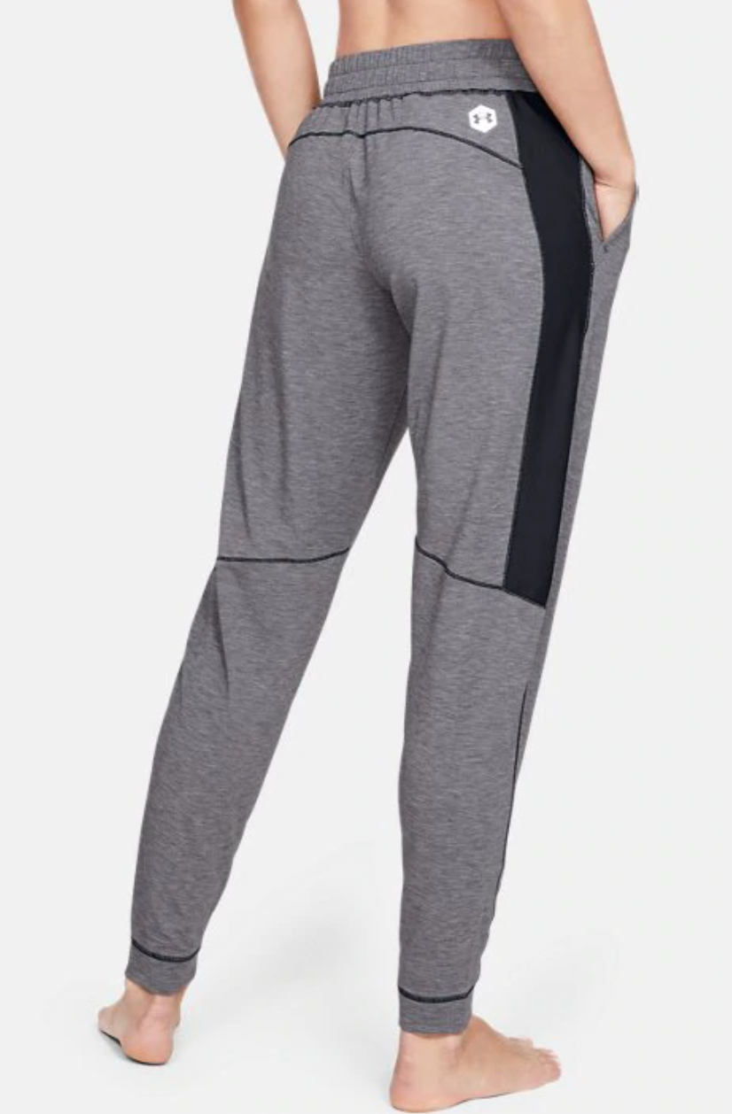 a model in gray joggers
