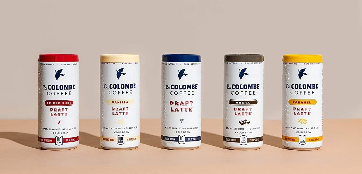 the various flavors of the la colombe coffee lattes