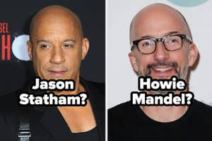 Side-by-side images of Vin Diesel with the question