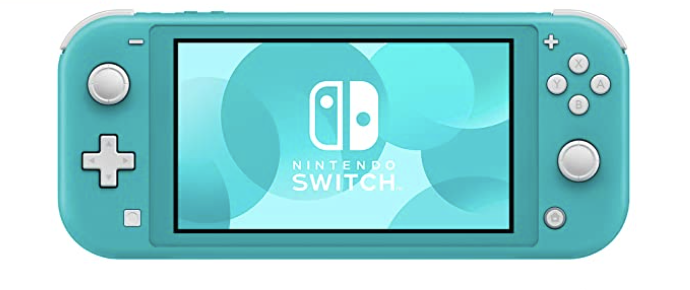 A turquoise Nintendo Switch