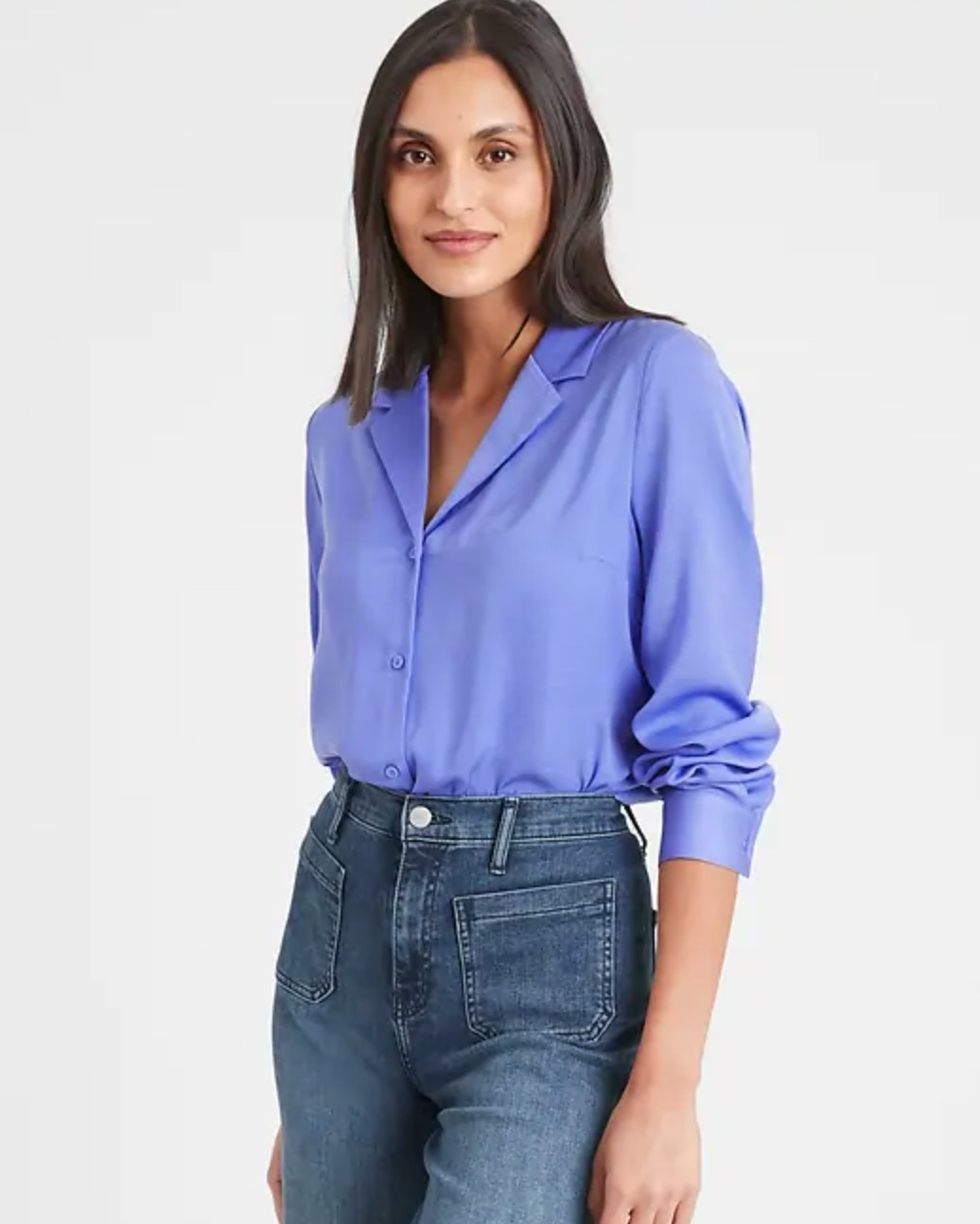 The boxy shirt in blue