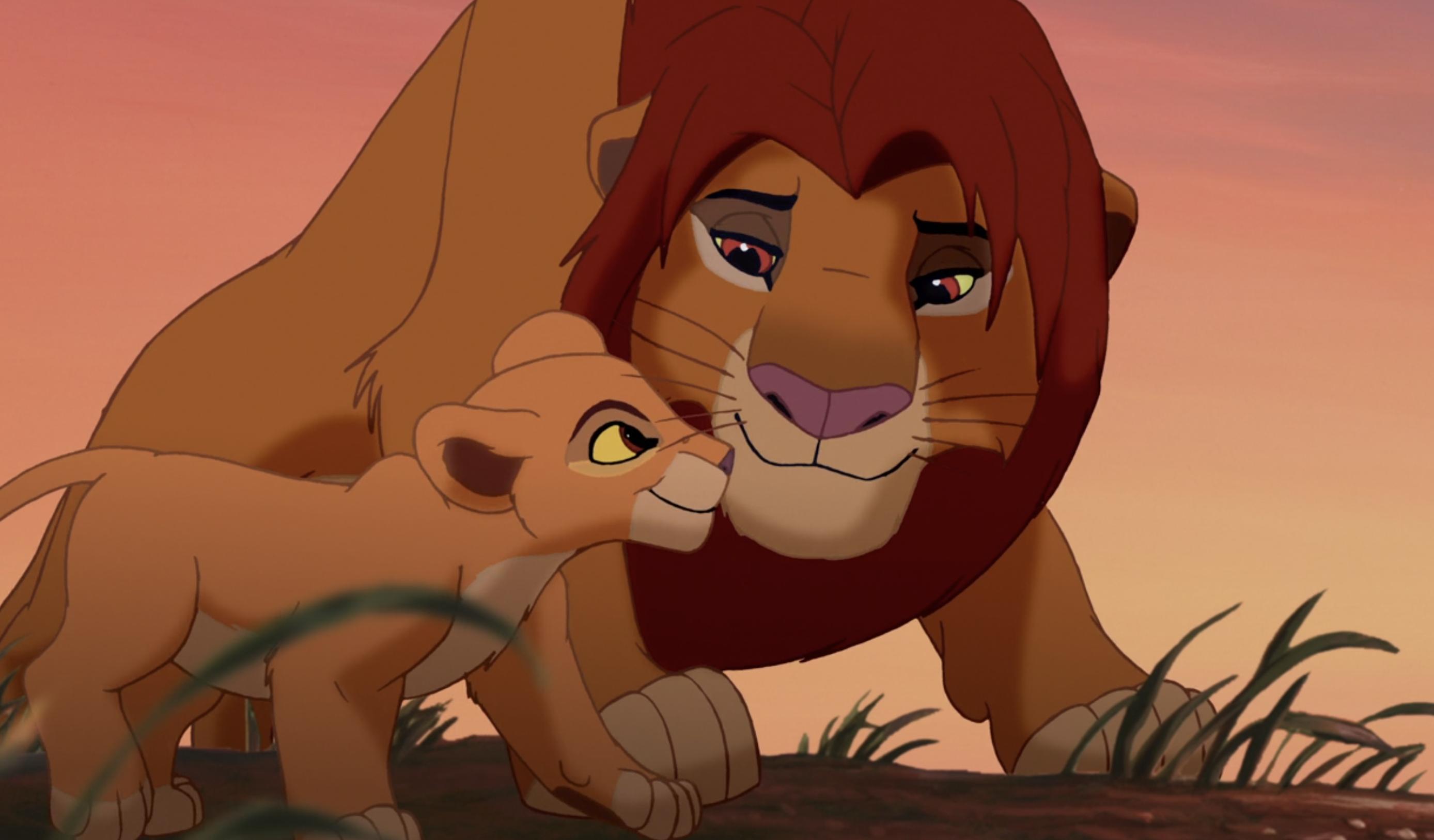 Simba and his daughter Kiara