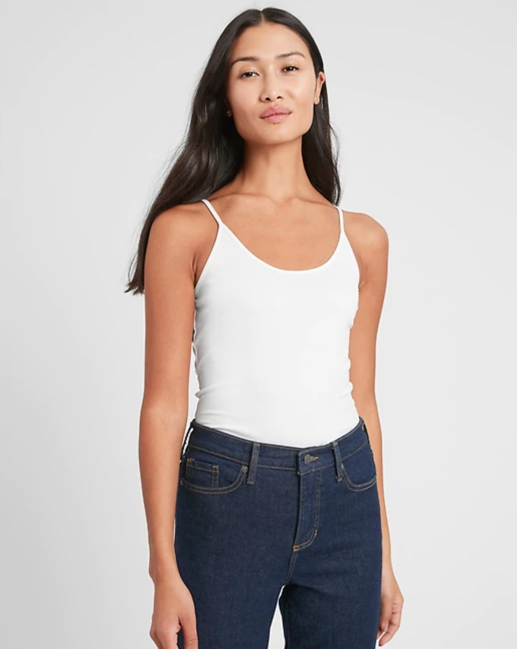 The layering camisole in white